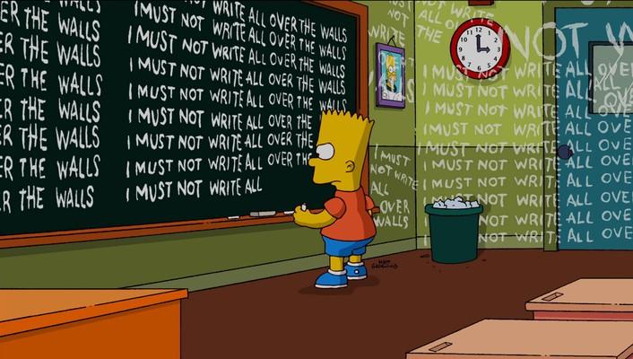 Bart Simpson lavagna